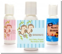 Twin Monkey Boys - Personalized Baby Shower Lotion Favors