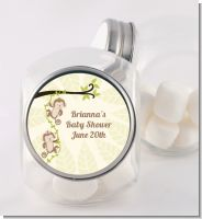 Twin Monkey - Personalized Baby Shower Candy Jar