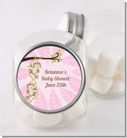 Twin Monkey Girls - Personalized Baby Shower Candy Jar