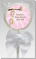 Twin Monkey Girls - Personalized Baby Shower Lollipop Favors