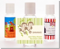 Twin Monkey - Personalized Baby Shower Hand Sanitizers Favors