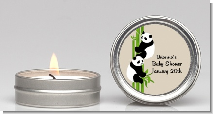 Twin Pandas - Baby Shower Candle Favors
