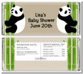 Twin Pandas - Personalized Baby Shower Candy Bar Wrappers