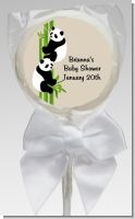 Twin Pandas - Personalized Baby Shower Lollipop Favors