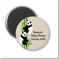 Twin Pandas - Personalized Baby Shower Magnet Favors