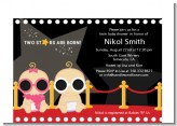 Twin Stars Are Born Hollywood - Baby Shower Petite Invitations