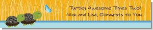 Twin Turtle Boys - Personalized Baby Shower Banners