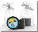 Twin Turtle Boys - Baby Shower Black Candle Tin Favors