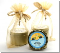 Twin Turtle Boys - Baby Shower Gold Tin Candle Favors