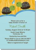 Twin Turtle Boys - Baby Shower Invitations