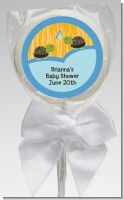 Twin Turtle Boys - Personalized Baby Shower Lollipop Favors