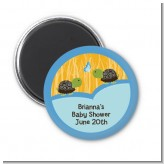 Twin Turtle Boys - Personalized Baby Shower Magnet Favors