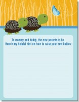 Twin Turtle Boys - Baby Shower Notes of Advice
