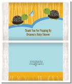 Twin Turtle Boys - Personalized Popcorn Wrapper Baby Shower Favors