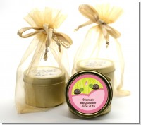 Twin Turtle Girls - Baby Shower Gold Tin Candle Favors