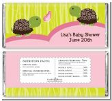Twin Turtle Girls - Personalized Baby Shower Candy Bar Wrappers