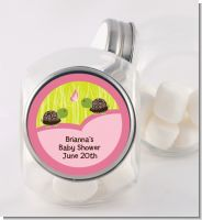 Twin Turtle Girls - Personalized Baby Shower Candy Jar