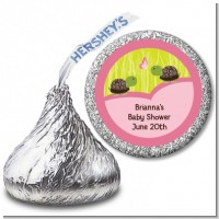 Twin Turtle Girls - Hershey Kiss Baby Shower Sticker Labels