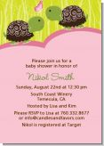 Twin Turtle Girls - Baby Shower Invitations