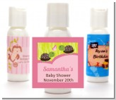 Twin Turtle Girls - Personalized Baby Shower Lotion Favors