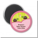 Twin Turtle Girls - Personalized Baby Shower Magnet Favors