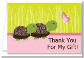 Twin Turtle Girls - Baby Shower Thank You Cards