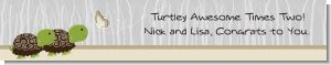 Twin Turtles - Personalized Baby Shower Banners