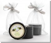 Twin Turtles - Baby Shower Black Candle Tin Favors