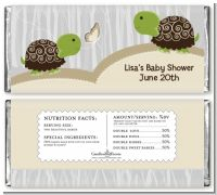 Twin Turtles - Personalized Baby Shower Candy Bar Wrappers
