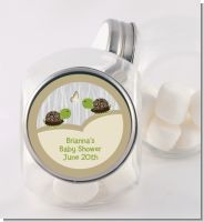 Twin Turtles - Personalized Baby Shower Candy Jar