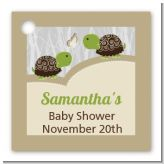 Twin Turtles - Personalized Baby Shower Card Stock Favor Tags
