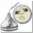Twin Turtles - Hershey Kiss Baby Shower Sticker Labels thumbnail
