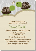 Twin Turtles - Baby Shower Invitations