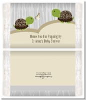 Twin Turtles - Personalized Popcorn Wrapper Baby Shower Favors