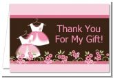 Twin Little Girl Outfits - Baby Shower Thank You Cards