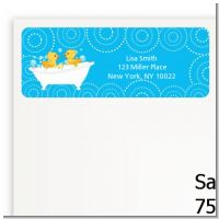 Twin Duck - Baby Shower Return Address Labels