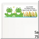 Twin Frogs - Baby Shower Return Address Labels