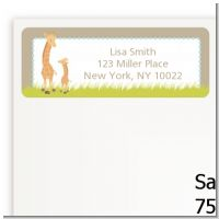 Twin Giraffes - Baby Shower Return Address Labels