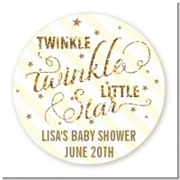 Twinkle Little Star - Round Personalized Baby Shower Sticker Labels