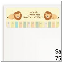 Twin Lions - Baby Shower Return Address Labels
