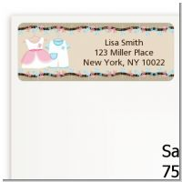 Twin Little Outfits 1 Boy and 1 Girl - Baby Shower Return Address Labels