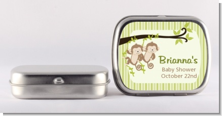 Twin Monkey - Personalized Baby Shower Mint Tins