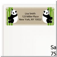 Twin Pandas - Baby Shower Return Address Labels