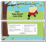 Twins Little Red Wagon Asian Girls - Personalized Baby Shower Candy Bar Wrappers