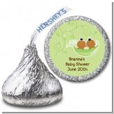 Twins Two Peas in a Pod African American - Hershey Kiss Baby Shower Sticker Labels