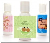 Twins Two Peas in a Pod African American - Personalized Baby Shower Lotion Favors