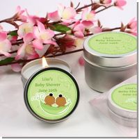 Twins Two Peas in a Pod African American Two Boys - Baby Shower Candle Favors