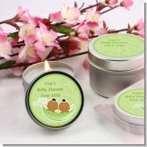 Twins Two Peas in a Pod African American Two Girls - Baby Shower Candle Favors