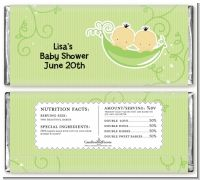 Twins Two Peas in a Pod Asian - Personalized Baby Shower Candy Bar Wrappers