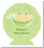 Twins Two Peas in a Pod Asian - Personalized Baby Shower Centerpiece Stand